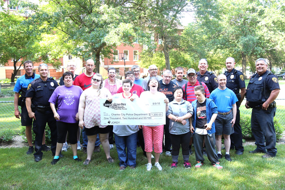 Comprehensive Systems makes $1,200 donation to K–9 fund