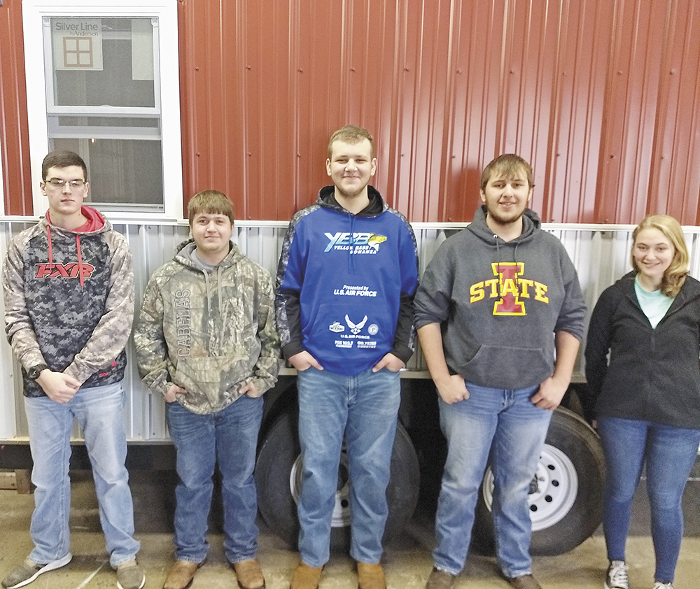 42c9b6a749eb Charles City FFA members Dylan Bilharz, Tanner Heitz, Jordan Wulff, Caleb  Hejna and Madee Tjaden were approved to receive their Iowa FFA Degrees.