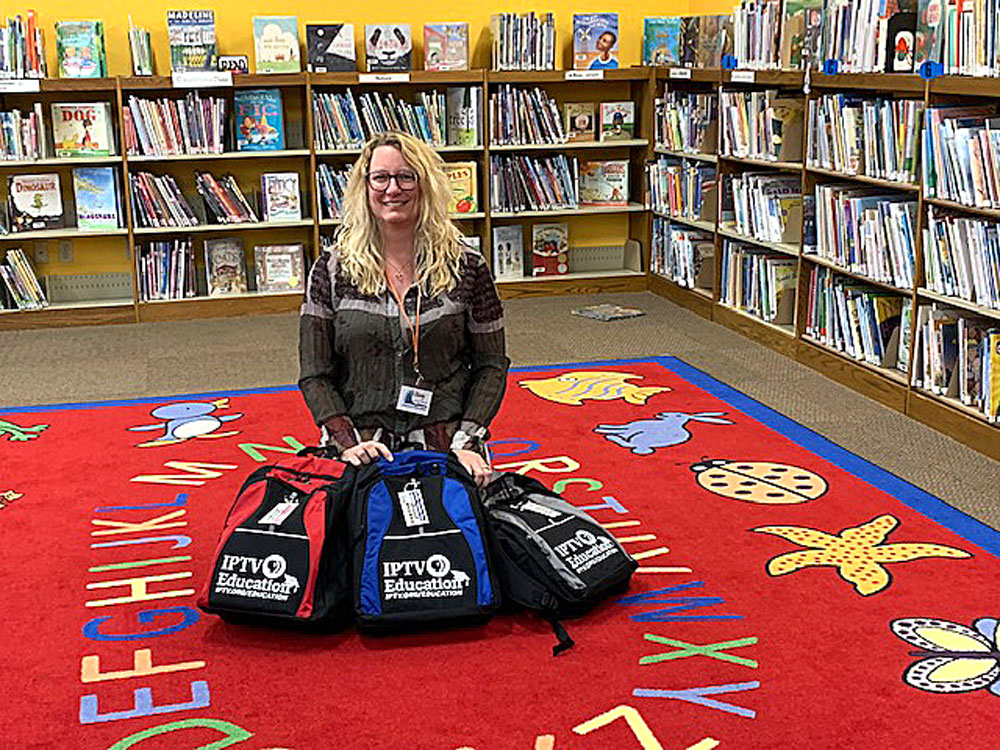 Charles City Public Library receives IPTV STEM backpacks