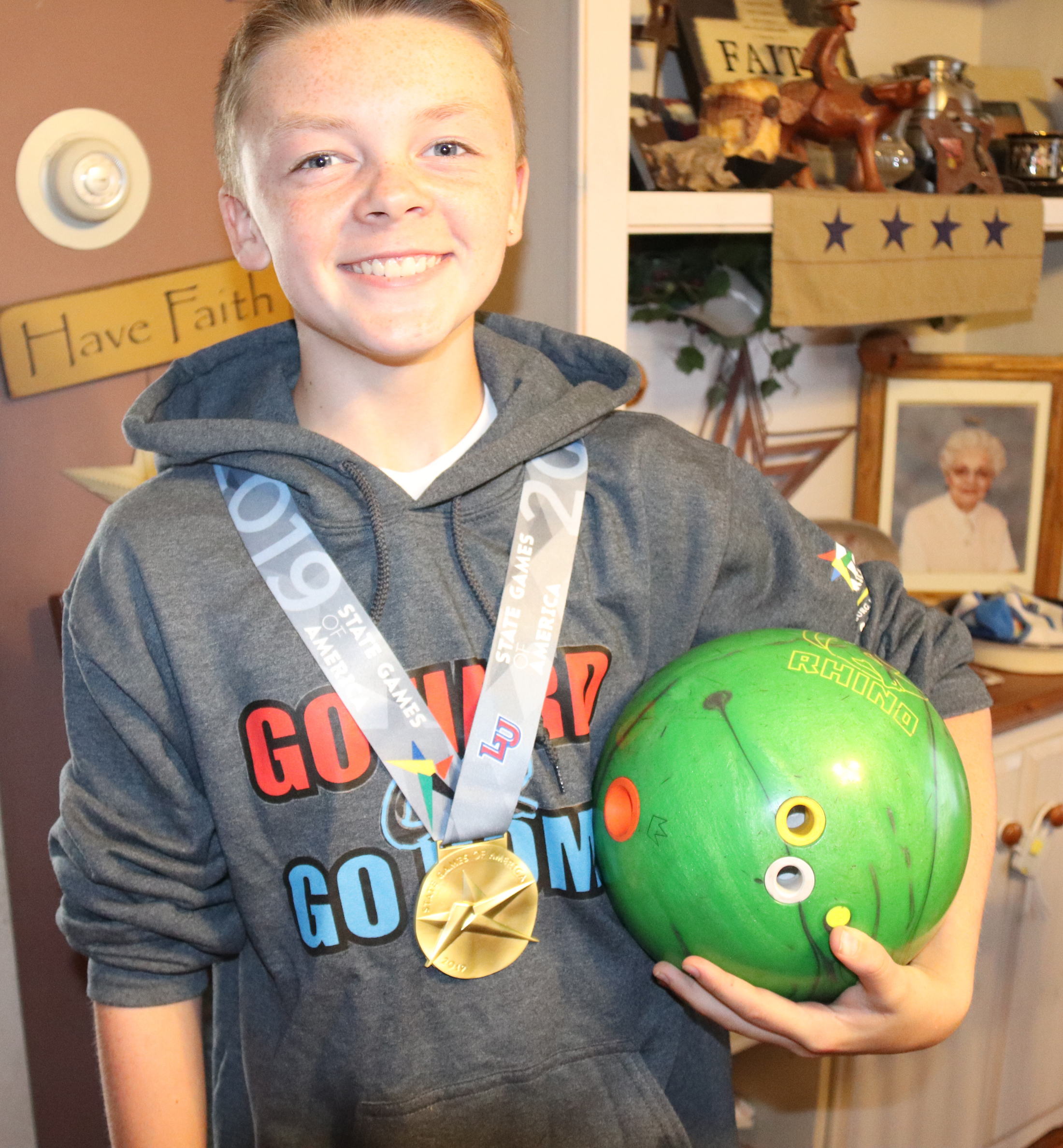 Keaton Ross wins gold medal in bowling at State Games of America
