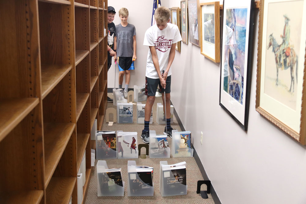 'Stacks with snacks' mini-golf concludes summer reading program at CC Library