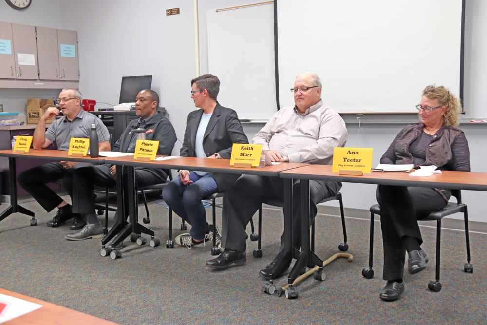 Candidates face questions at Charles City Council election forum