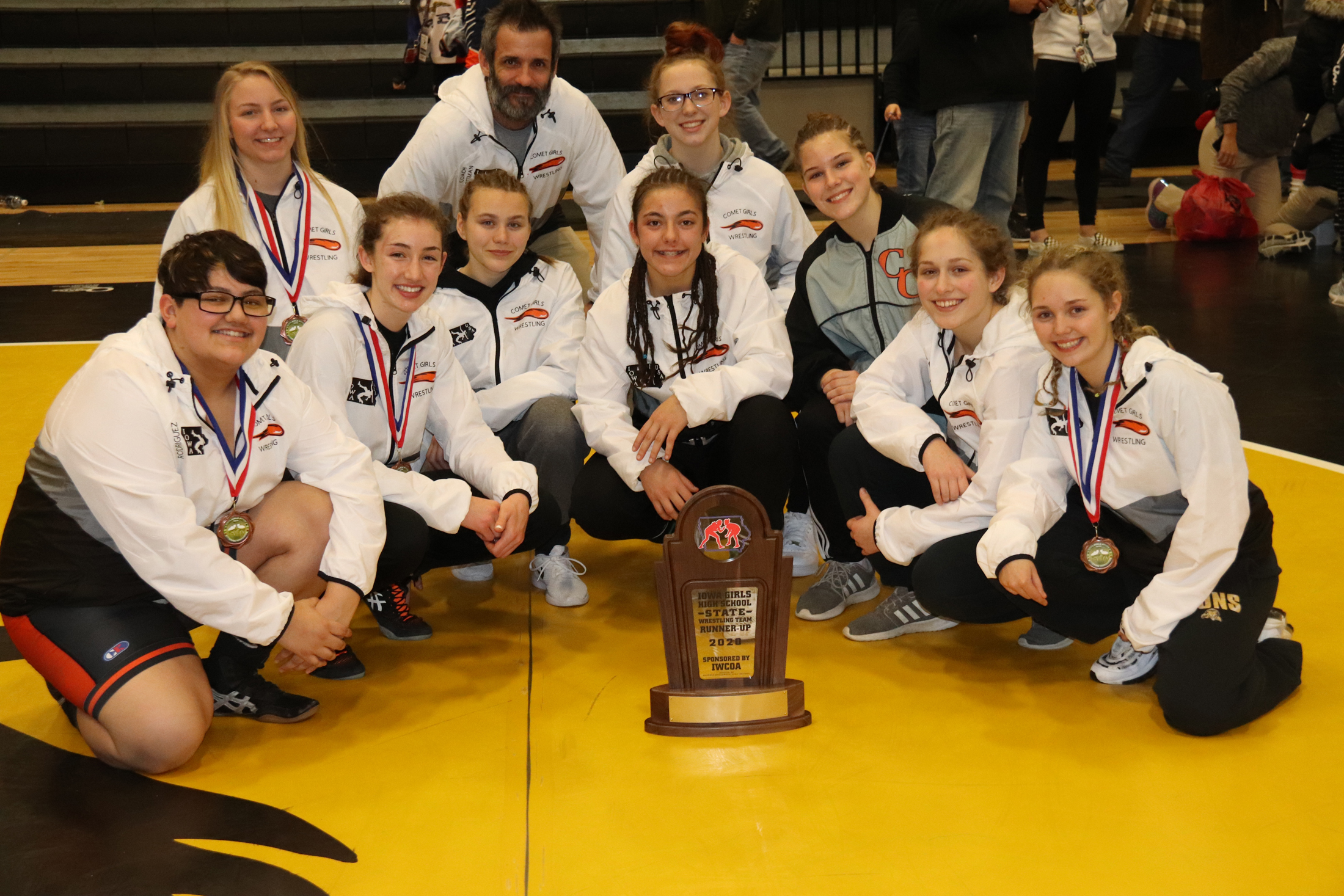 Comets take 2nd at Iowa Girls State Wrestling Championships