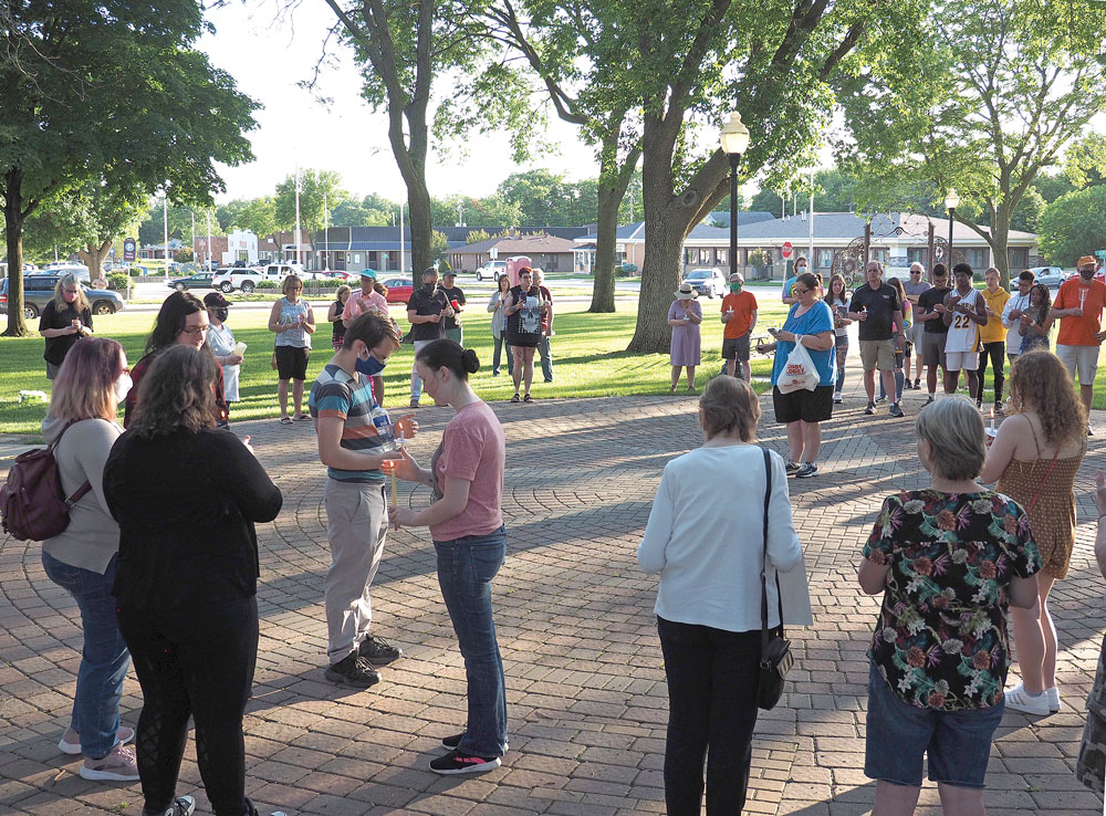 Charles City vigil remembers Minneapolis man, makes statement on injustice, inequality