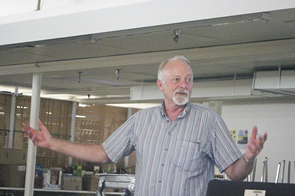 Johnson explains watershed project to Lions Club