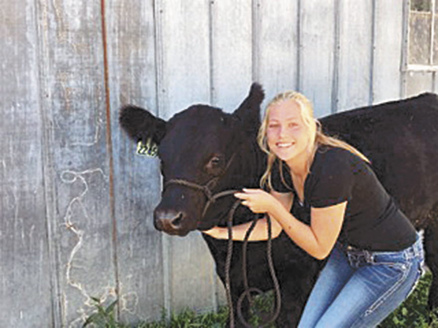 Ruzicka and Chance to represent Floyd County at Governor's Steer Show