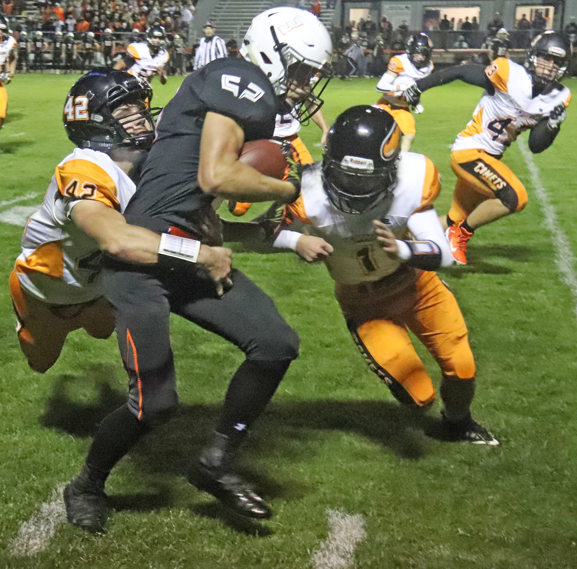 Comets fall to West Delaware Hawks 56-0 after 2-week layoff