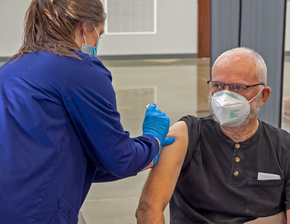 COVID-19 vaccination options expand for age 65 and older; first public clinic held