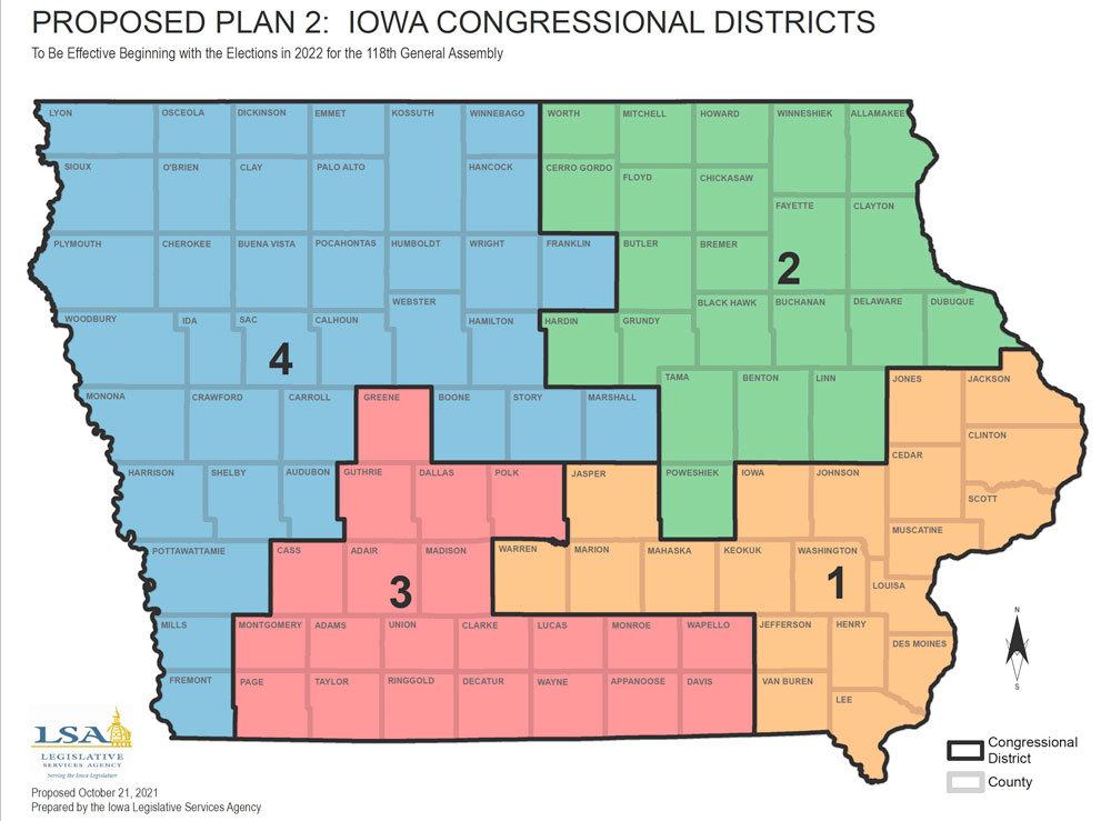 Latest redistricting maps would split Floyd County among Iowa House and Senate districts